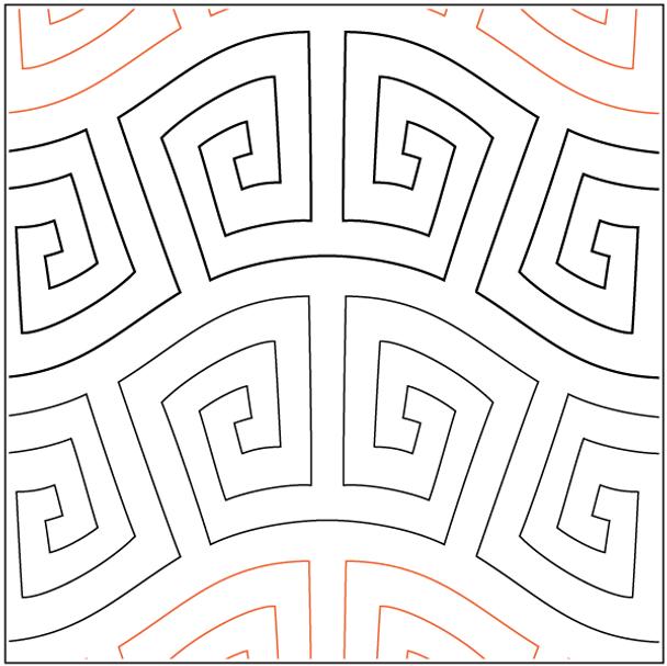 """Aztec Wave-7.5"""" by Urban Elementz"""