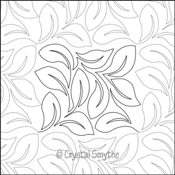 "Cyrstal's Lovely Leaves-12"" by Dawna's Design Threads"