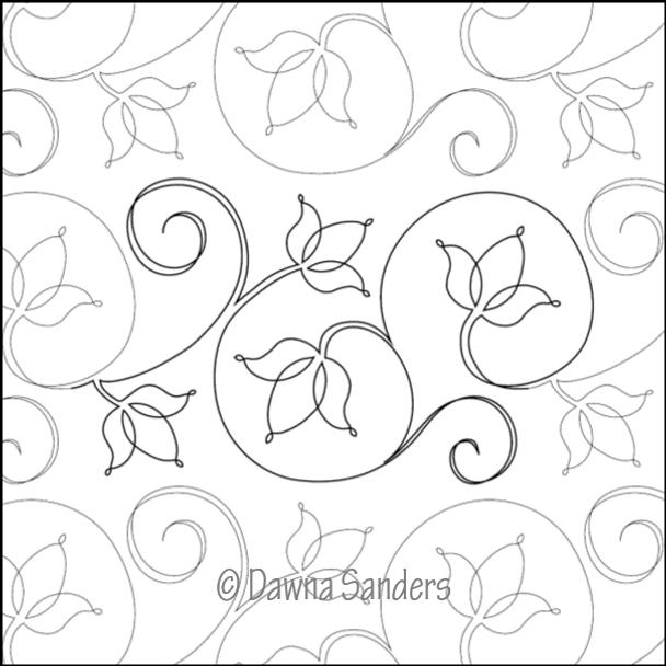 "Twinkling Tulips-8"" by Dawna's Design Threads"