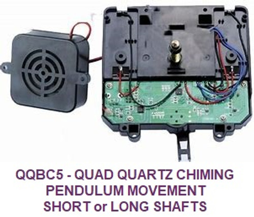 Quadraphonic Pendulum Battery Chime Movement (QQBC5PS/L)