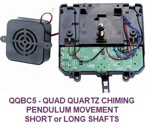 Quadraphonic Pendulum Battery Chime Movement (QQBC5PS/L)