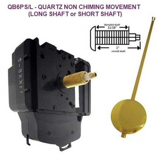 Quartz Battery Movement & Pendulum Drive 1 (QB6PS/L)