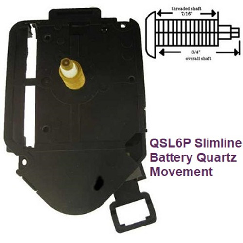 Quartz Battery Movement & Pendulum Drive 2 (QSL6P)