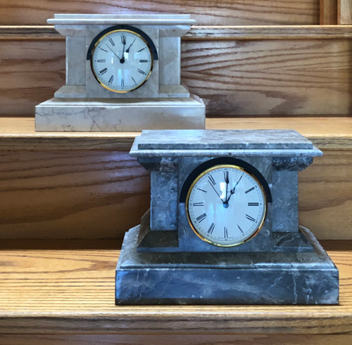 Marble Mantle Clock w/ Hermle Westminster Chime Insert Movement