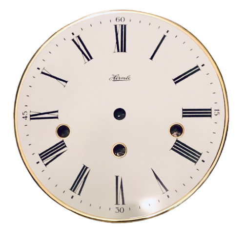 "7-7/8"" Solid Brass Regulator Dial - Front View - Made By Hermle"