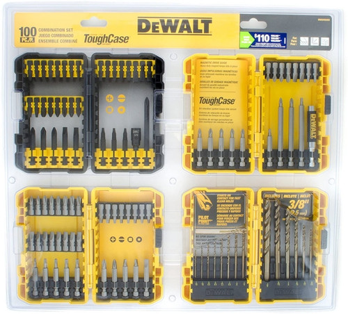DeWALT 100-Piece Combination Impact Screwdriver Bit/Drill Set