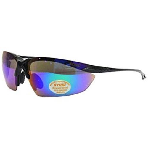 Stihl Ultra Flex Safety Glasses - Black with Mirror Lens