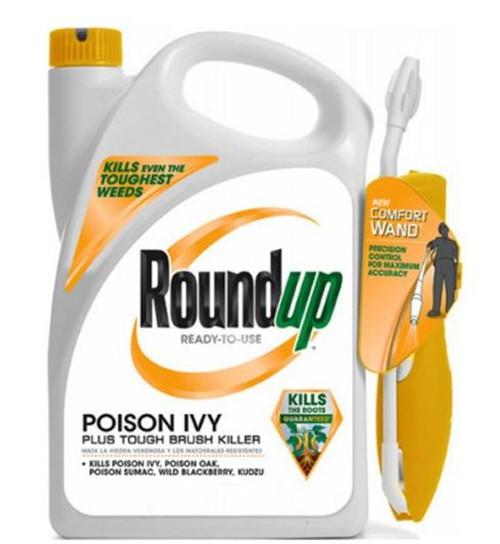 Roundup Poison Ivy Plus Tough Brush Killer Ready-to-Use Comfort Wand Sprayer, 1.33-Gallon