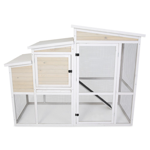 PrecisionPet Products Hen Ranch Chicken Coop Natural White
