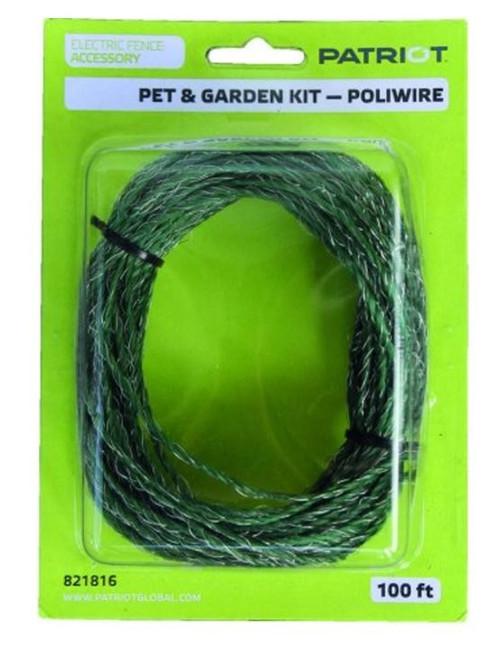 Tru-Test Datamars - Patriot Pet and Garden Kit, 100' Extra Poliwire