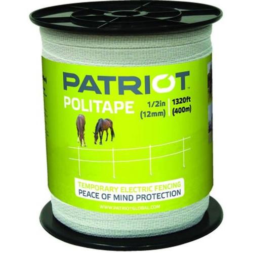 "Tru-Test Datamars - Patriot 1/2"" Politape, 1320', White"