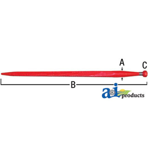 A&I Products Bale Spear 1 3 8 inch x 32 inch(Available for In Store Pick Up ONLY)