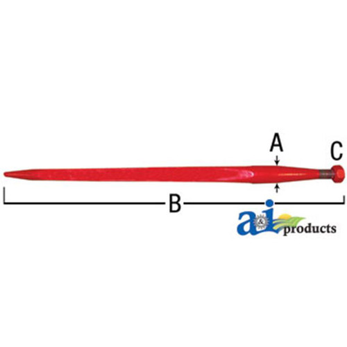 A&I Products Bale Spear 1 3 8 inch x 27 inch (Available for In Store Pick Up ONLY)