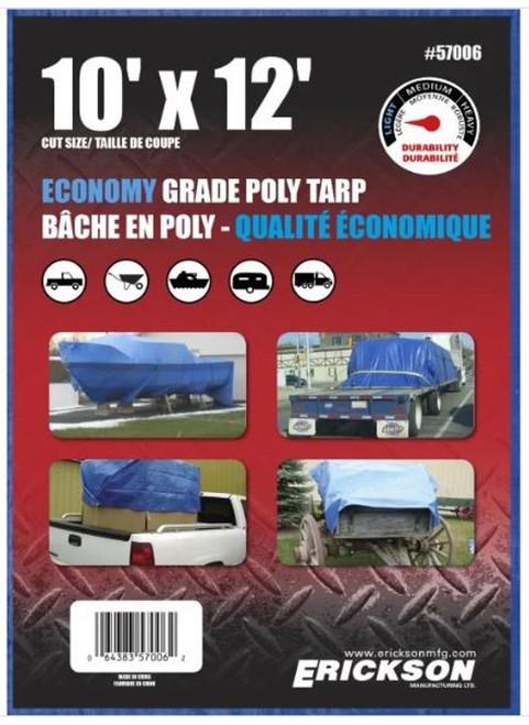 Erickson - 10' X 12' Blue Tarp