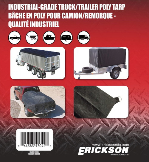 Erickson Mfg. 6' x 8' Industrial Fitted Tarp