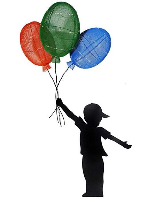 Alpine Solar Boy Silhouette Balloon Decor With LED Lights