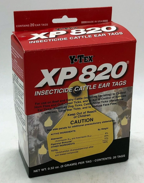 Y-Tex XP820 Insecticide Cattle Ear Tags