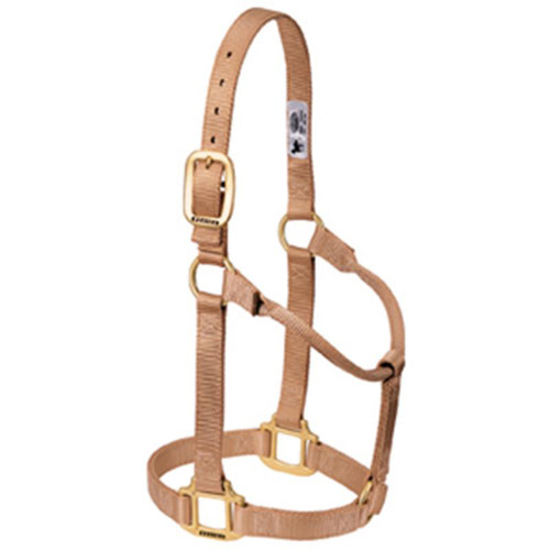 Weaver Leather -  Original Non-Adjustable Halter, Sand, 1 inch Average Horse or Yearling Draft
