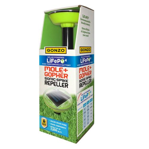 Gonzo Solar Powered LiFePo4 Sonic Spike Repeller