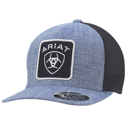 Ariat Mens FlexFit 110 Blue w/Black Mesh Ball Cap