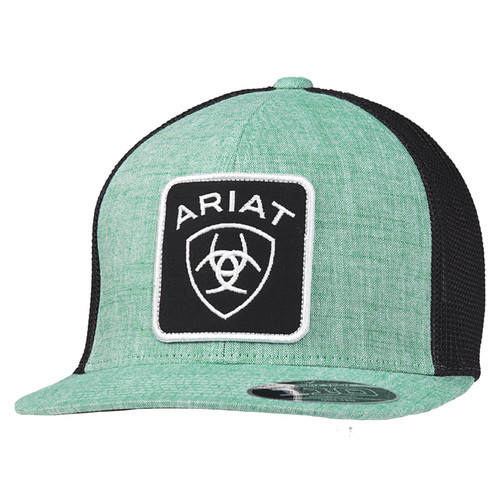 Ariat Mens FlexFit 110 Green W/Black Mesh Ball Cap