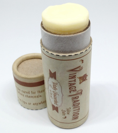 Vintage Tradition Totally Unscented Tube Tallow Balm