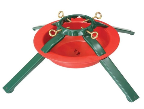 Holiday Basix #5180 Steel Christmas Tree Stand (Red & Green) - 8' Tree