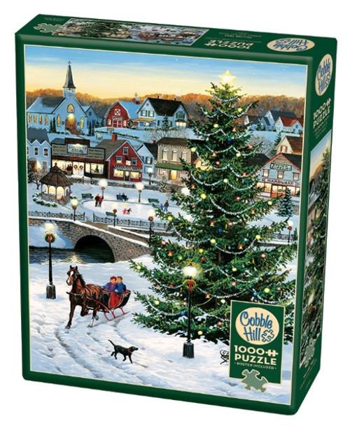 Cobble Hill Village Tree Jigsaw Puzzle - 1000 Pieces