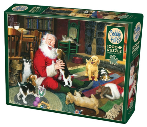 Cobble Hill Santa's Playtime Jigsaw Puzzle - 1000 Piece