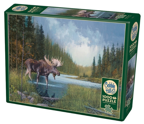 Cobble Hill Moose Lake Jigsaw Puzzle - 1000 Pieces