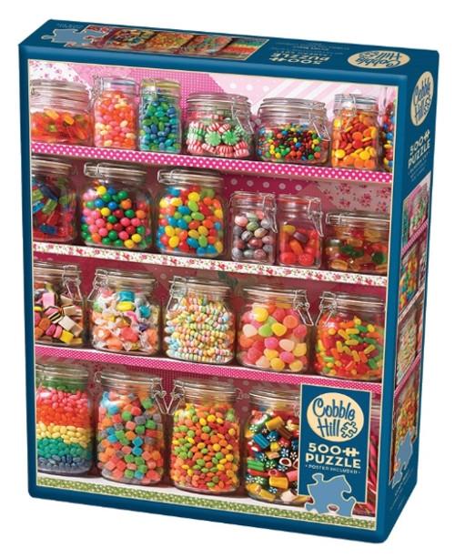 Cobble Hill Candy Shelf Jigsaw Puzzle - 500 Pieces