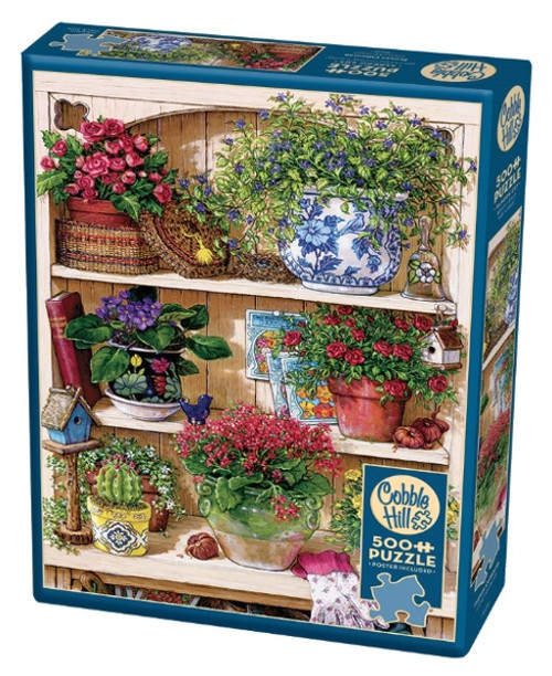 Cobble Hill Flower Cupboard Jigsaw Puzzle - 500 Pieces