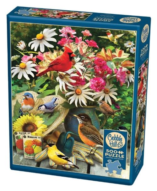 Cobble Hill Garden Birds Jigsaw Puzzle - 500 Pieces
