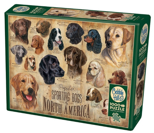 Cobble Hill Sporting Dogs Jigsaw Puzzle - 1000 Piece