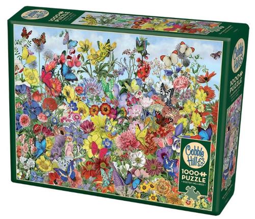 Cobble Hill Butterfly Garden Jigsaw Puzzle - 1000 Piece