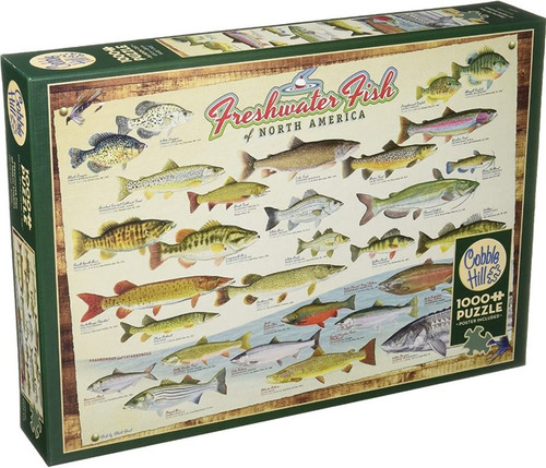 Cobble Hill Freshwater Fish of North America - 1000 Pieces