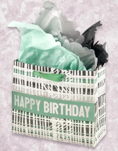 Retro Stripes Happy Birthday Studio Gift Bag