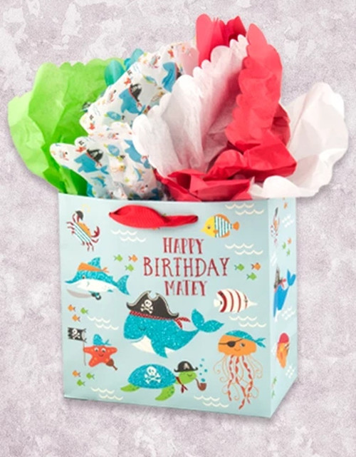Happy Birthday Matey Medium Square Gift Bag