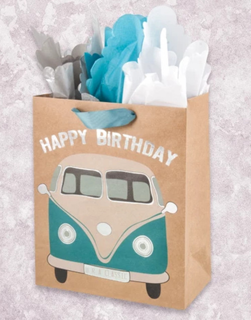 You're A Classic VW Happy Birthday Garden Gift Bag