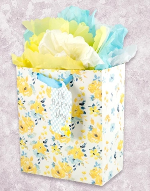Yellow Roses Garden Gift Bag
