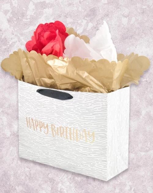 Woodgrain Happy Birthday Market Gift Bags