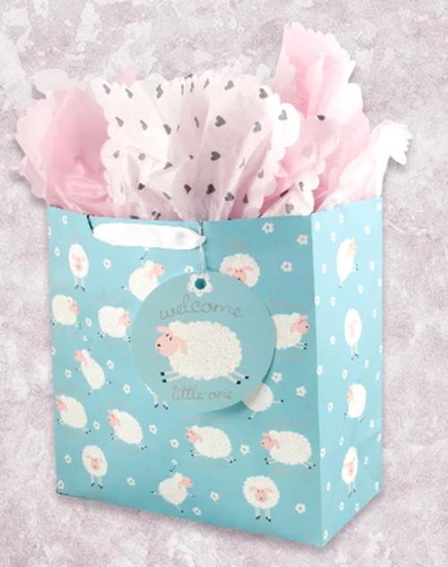Likeable Lambs Square Jumbo Gift Bag