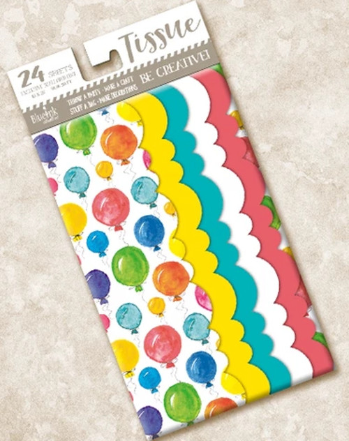 Watercolor Balloons Scalloped Tissue Paper