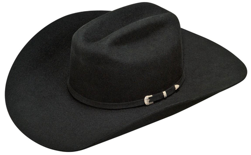 Ariat Mens Black Wool Cowboy Hat