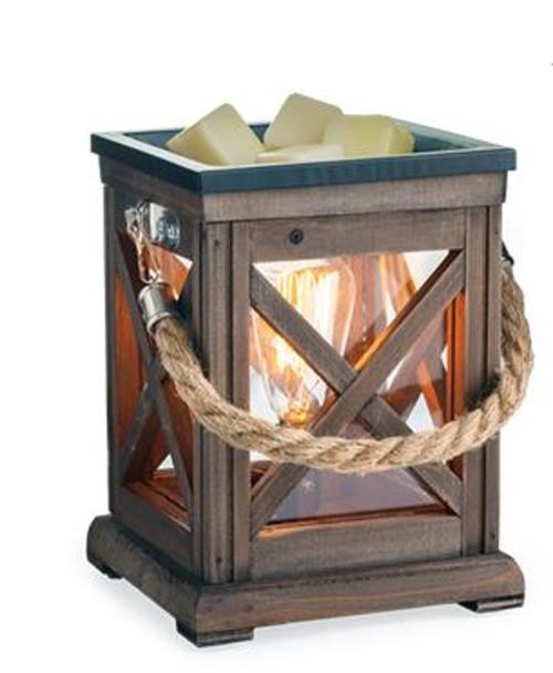 Candle Warmers Walnut & Rope Edison Bulb Illumination Warmer