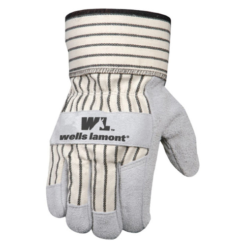Wells Lamont - Mens Suede Cowhide Leather Palm Glove