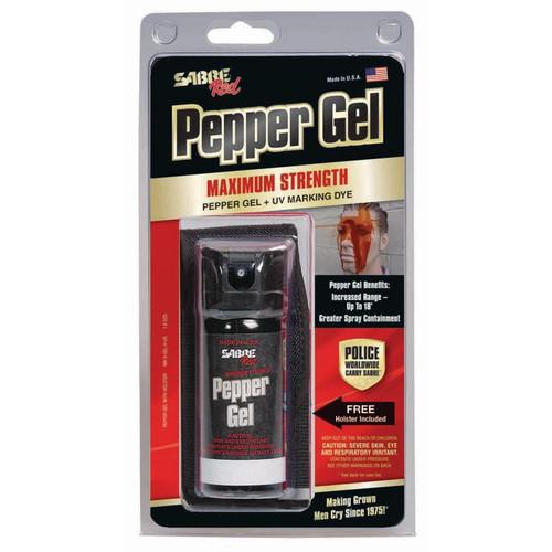 Sabre Tactical Pepper Gel With Flip Top and Belt Holster