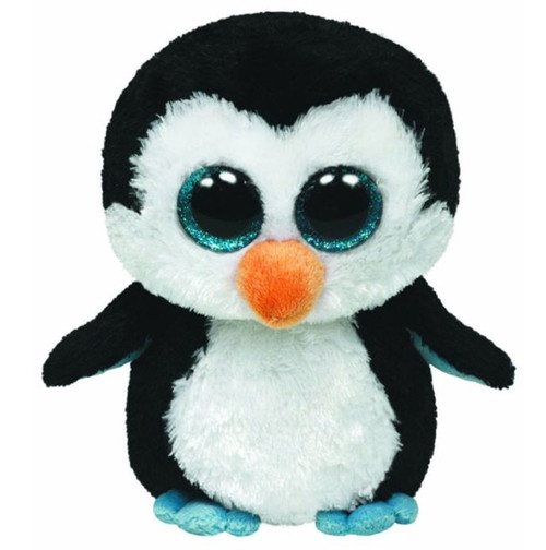 TY Beanie Boos Waddles The Penguin With Glitter Eyes
