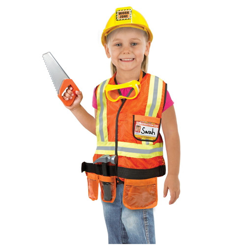 Melissa & Doug Construction Worker Play Costume Set