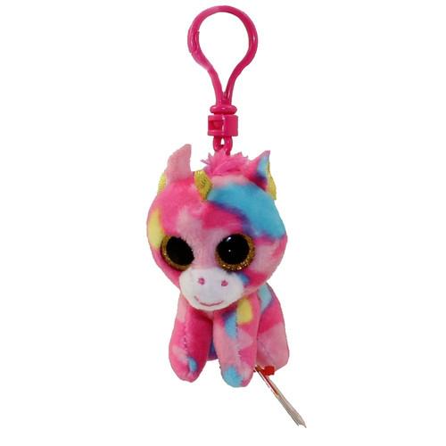 Ty - Beanie Boos Fantasia The Multi-Color Unicorn - Key Clip